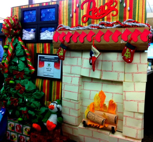 December 2011 the yellow cottage for Xmas office design