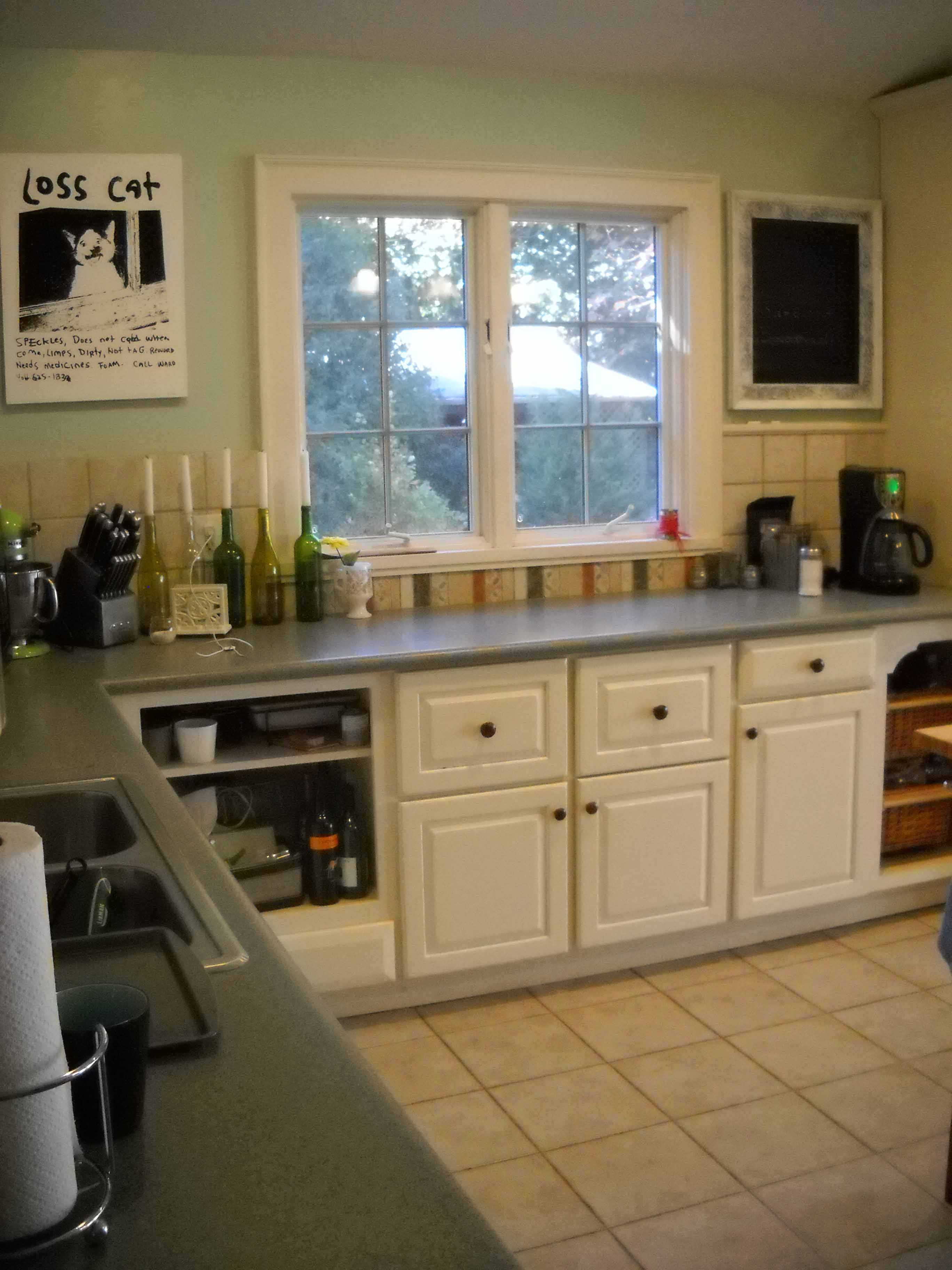 Green Colored Kitchen Countertops : House tour the kitchen yellow cottage